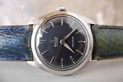 $ CDN2475.16 • Buy Vintage 1950's ROLEX OYSTER PRECISION Ref.6082 Cal.710 SS 33mm MANUAL BLACK DIAL