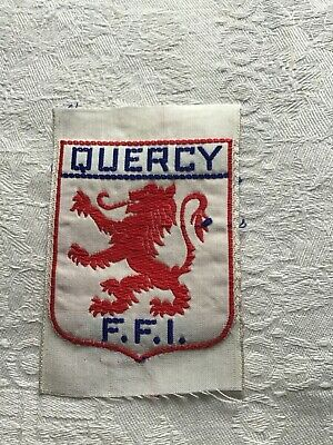 WW2 Silk Free French S.W.France-Maquis?cloth Formation Sign/badge • 6£