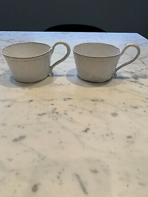 Astier De Villatte 2x Large Coffee Hot Chocolate Cup Mug Soup Bowl Used French • 170£