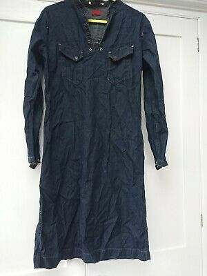 Levis Red Tab Girls Denim Dress Size M Pit To Pit 21 L41 EXCELLENT AND RARE • 20£