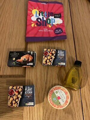 £5 • Buy Bundle Of Mini Collectable M&S Little Shop Honey, Pizza & More! - ONLY £5.00