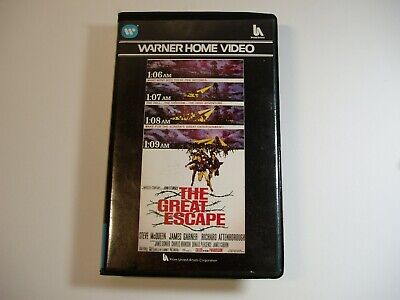 The Great Escape VHS Pre-cert Warners Video • 10£