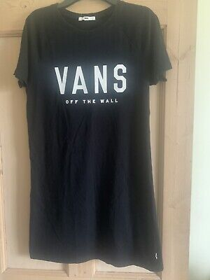 Vans Of The Wall Womens Tee Tshirt Dress Black Size Small • 16.95£