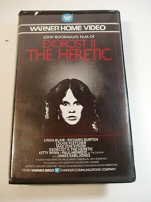 Exorcist 2 The Heretic VHS Pre-cert Video • 10£