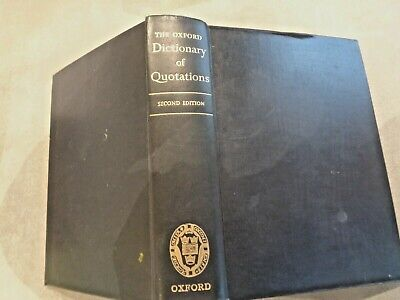 The Oxford Dictionary Of Quotations Hardback • 10£