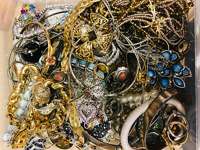 $ CDN99.31 • Buy Vintage To Now Junk Jewelry Lot, Unsearched, Untested!! Small Flat Rate Box FULL