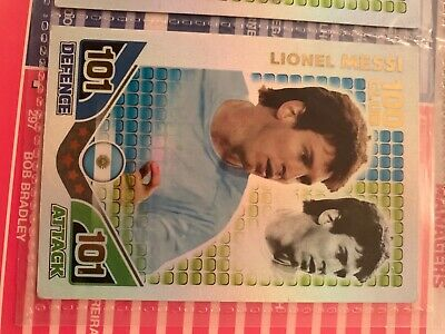 Match Attax Attack 2010 World Cup Lionel Messi 100 Hundred Club Card Argentina • 2£