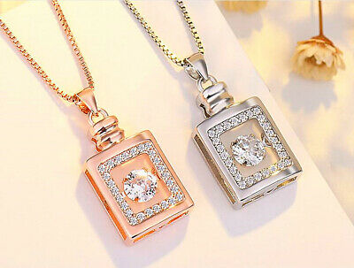 £3.29 • Buy  Perfume Bottle Pendant 925 Sterling Silver Chain Necklace Womens Jewellery Gift