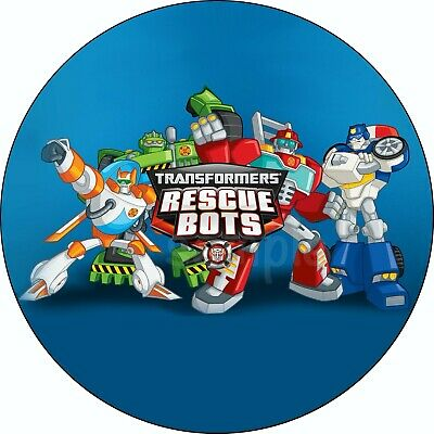 Transformers Rescue Bots Edible Cake Topper Wafer Paper Birthday Party Deco New • 4.20£