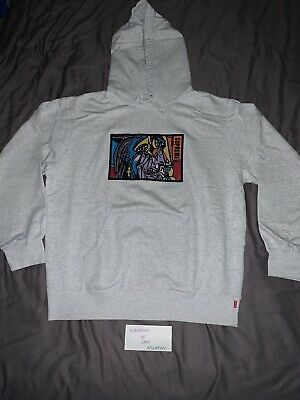 $ CDN214.10 • Buy Supreme Chainstitch Hoodie Ash Gray FW18 Embroidered Size XL