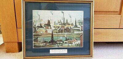 Industrial Landscape, The Canal By L S Lowry R.A Print. Framed & Mounted. • 5£