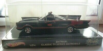 Hot Wheels 1966 BATMOBILE New Boxed 1:24 Scale Classic TV Adam West Batman Robin • 24.99£
