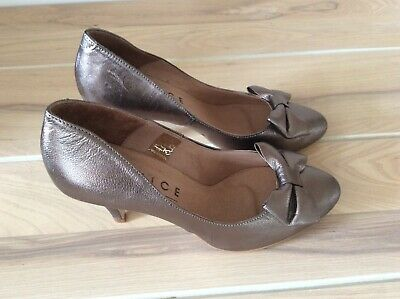 Office London Gold, Bronze Court Shoes Size 39/6 With Bow • 8.99£