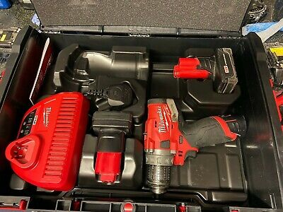 Milwaukee M12FDD Fuel Brushless Drill, With Charger, Case And Free Batteries • 104£