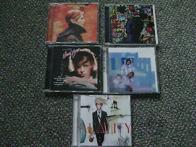 Job Lot Of 5 DAVID BOWIE CDS ,Low ,Tonight ,Reality, Hours And Young Americans. • 15.99£