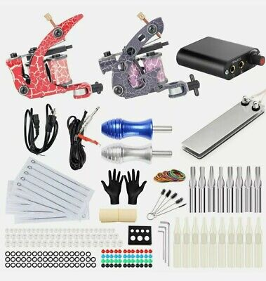 Complete Tattoo Machines Kit Power Supply Starter Set For Beginners • 35£