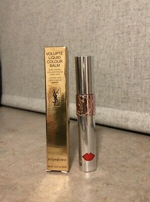 YSL Yves Saint Laurent VOLUPTÉ LIQUID COLOUR BALM No.6 Undress Me Coral RRP £30 • 13.95£