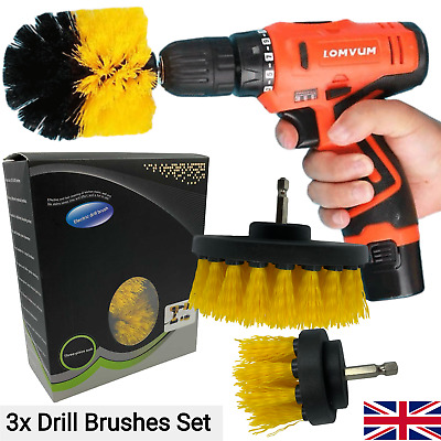 Drill Brush Set Cleaning Power Scrubber Attachment Car Tile Grout Cleaner Tool • 7.99£
