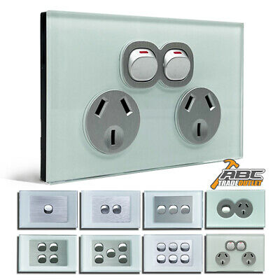 AU15.90 • Buy AU Standard Electrical Wall Power Socket Point GPO Glass Switch Panel Outlet 10A