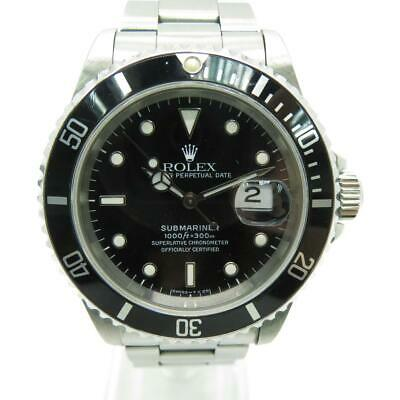 $ CDN11066.26 • Buy Auth Rolex Submariner Date Watch Black Dial Stainless Steel 16610