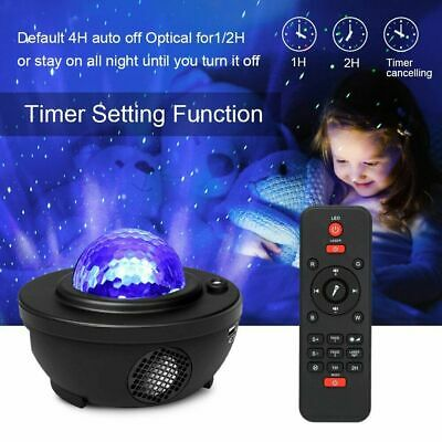 Galaxy Star Projector Music Night Light Starry Ocean Wave Lamp Remote Control UK • 20.99£
