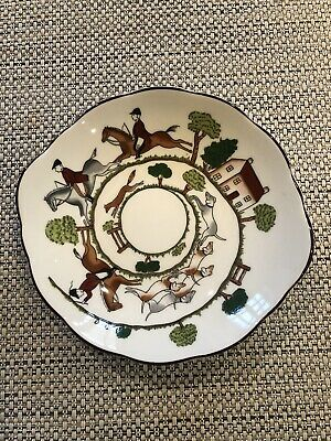 Coalport Fine Bone China Hunting Scene Dish • 5£