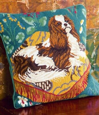 EHRMAN Rare KING CHARLES SPANIEL By CANDACE BAHOUTH TAPESTRY NEEDLEPOINT KIT • 125£