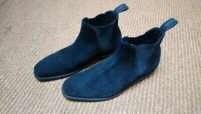 New Men's Loake Caine Black Suede Chelsea Boots Size 8.5.  Made In England.  • 26.11£