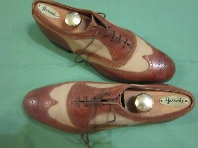 Fantastic Pair Of Two Tone Classic Men's Brogues Hand Made By Richard  Green   • 80£