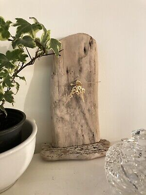 UNIQUE Driftwood Clock, HANDMADE, Rustic, Shabby Chic, WALL ART ***FREE P&P*** • 34£