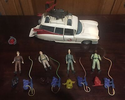 The Real Ghostbusters Original Ecto1 & Figures Plus Ghosts & Proton Packs • 100£