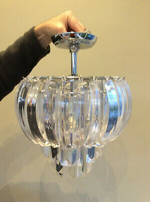 Laura Ashley Aria Clear Layered Swag Ceiling Light • 45£