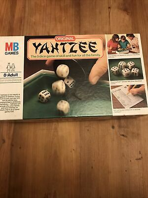 1982 Yahtzee Board Game Vintage 100% Complete MB Games Dice Game • 10£
