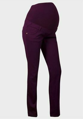 Womens Maternity Jeans  Overbump Bnwt Purple Grab A Bargain Look Comfy Style • 16.99£