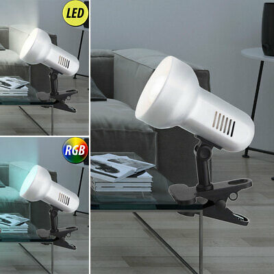 LED Metal Clamp Spotlight Rotating Labour Market Room Reading RGB Remote Control • 19.28£