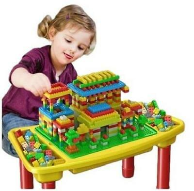 3 In1 Multi-Function Childrens Table Building Blocks Study Storage Playing 42 • 11.08£