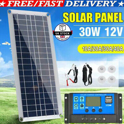 £17.59 • Buy Dual USB Flexible Solar Panel 12V 30W Battery Charger Kits Boat Camp+Controller