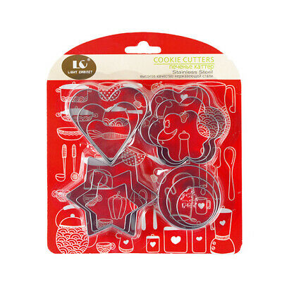 Cookie Cutter Set Stainless Steel Cutters Baking Cookies 12 Pcs 4 Shapes • 8.80£
