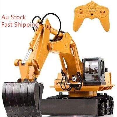 AU48 • Buy Tractor Excavator Die-Cast Digger RC Remote Controlled Toy Car Truck Kids