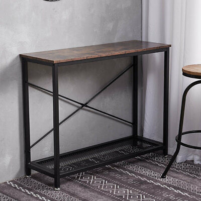 Rustic Industrial Vintage Wooden Console Table Hall Sideboard Desk Shelf Storage • 59.94£
