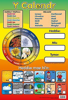 Welsh Calendar Poster  / Welsh Language / Educational / Learning • 4.99£