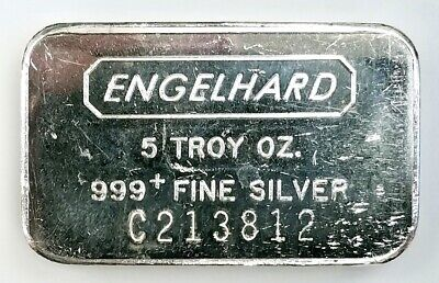 $ CDN248.72 • Buy Engelhard 5 Troy Oz. 999 Fine Silver Bar! C Series!
