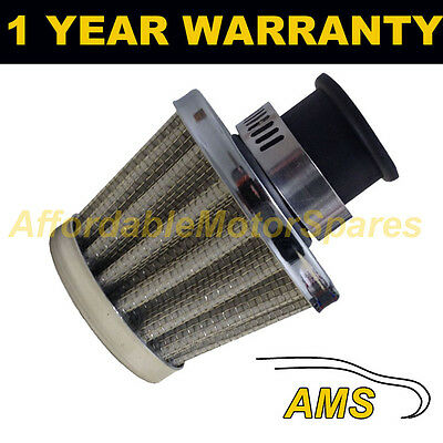£7.99 • Buy 18mm AIR OIL CRANK CASE BREATHER FILTER MOTORCYCLE QUAD CAR SILVER CONE