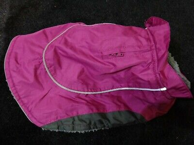 Pets At Home XXS Dog Coat Pink With Harness Slot & Reflective Trim 22cm Approx  • 2.99£