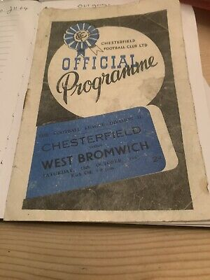 Chesterfield V West Brom  18/10/47 Football Programme  • 7.86£
