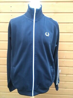 Fred Perry Black Track Jacket XL VGC MOD Casuals Top • 16£
