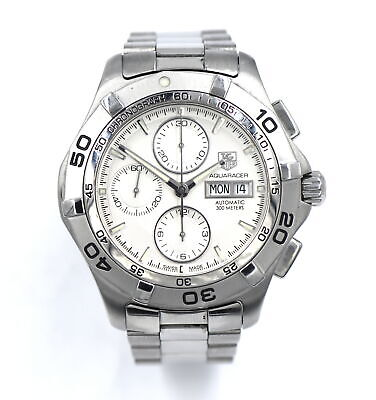 $ CDN1104.22 • Buy Vintage Tag Heuer Aquaracer Caf2011 Chronograph Wristwatch Stainless Steel Box
