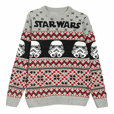 £34.99 • Buy Mens Star Wars Knitted Jumper Stormtroopers Christmas Official Multicoloured