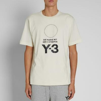 Mens Y3 Stacked Logo T-Shirt Champ/Black (Y3A1) RRP £119.99 • 59.99£