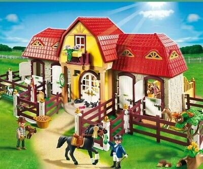 Playmobil 5221 Country Large Horse Farm With Paddock, Plus Smaller Stable Set.  • 8.80£
